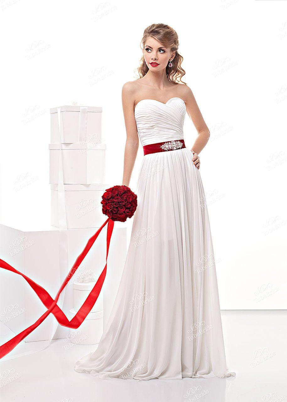 Купить красный пояс к свадебному платью