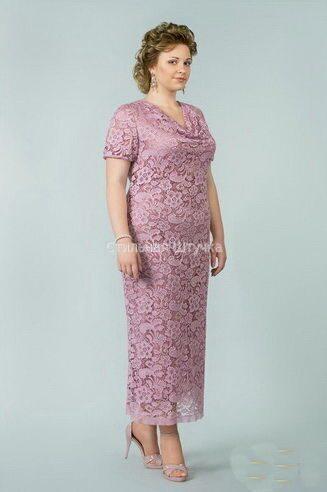Вечерние платья для полных женщин гипюровые