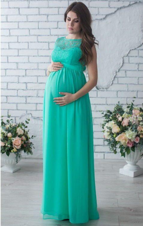 Вечерние платья в пол на беременных фото